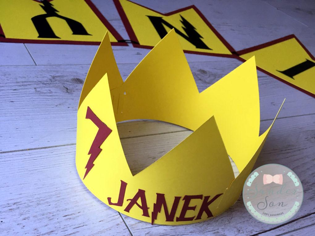 korona z napisem 7 janek motyw harry potter
